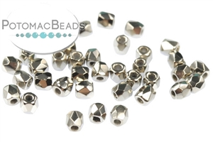 Czech Pressed Glass Beads / 1-Hole Beads / Fire Polished Faceted Rounds