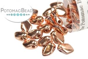 Czech Pressed Glass Beads / 1-Hole Beads / Gekko Beads