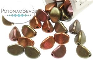 Czech Pressed Glass Beads / 1-Hole Beads / Pinch Beads