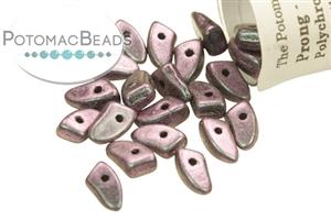 Czech Pressed Glass Beads / 1-Hole Beads / Prong Beads