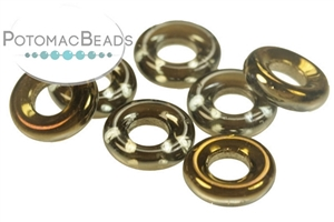 Czech Pressed Glass Beads / 1-Hole Beads / Rings