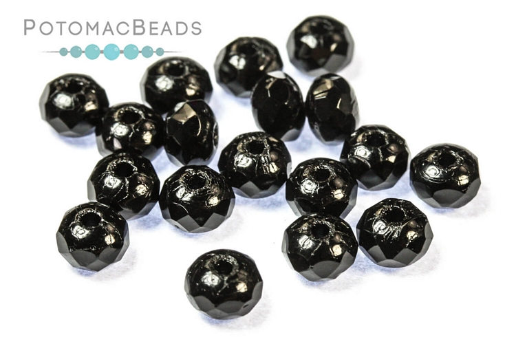 Czech Pressed Glass Beads / 1-Hole Beads / Rondelles