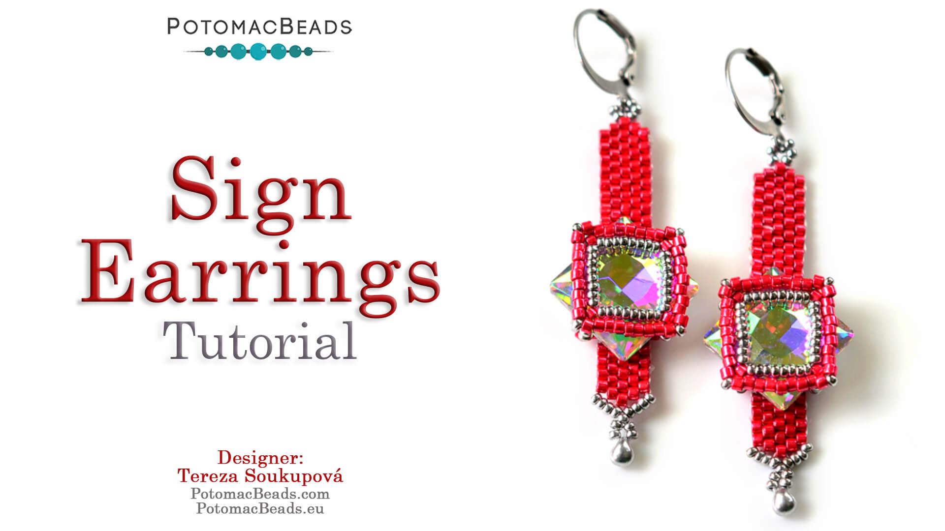 Sign Earrings Tutorial