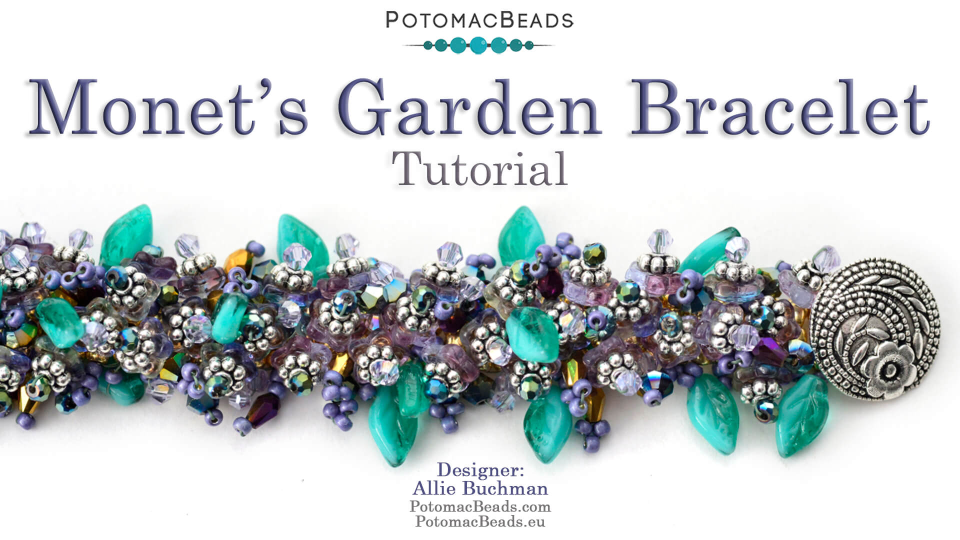 How to Bead Jewelry / Videos Sorted by Beads / Potomac Crystal Videos / Monet's Garden Bracelet Tutorial