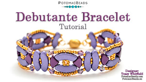 How to Bead Jewelry / Beading Tutorials & Jewel Making Videos / Bracelet Projects / Debutante Bracelet Tutorial