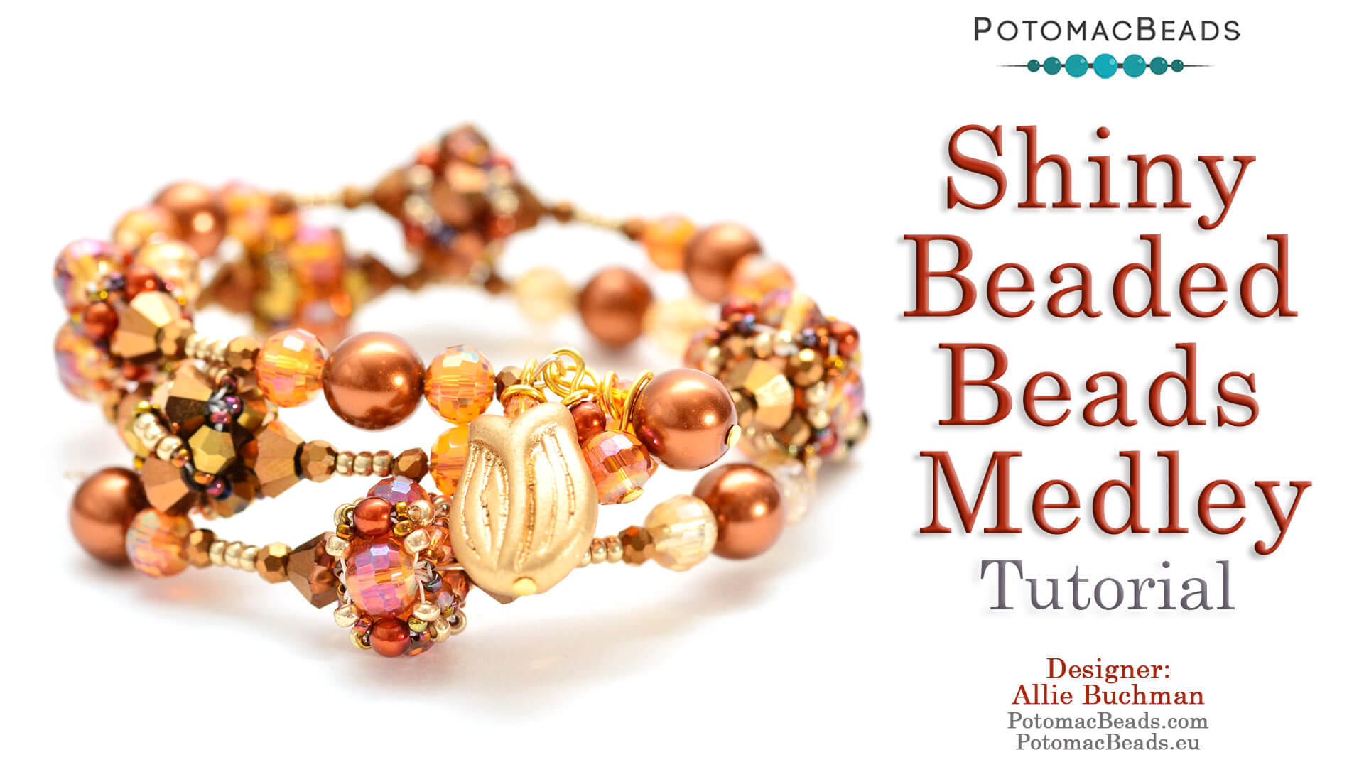 How to Bead Jewelry / Beading Tutorials & Jewel Making Videos / Beadweaving & Component Projects / Shiny Beaded Beads Medley Tutorial
