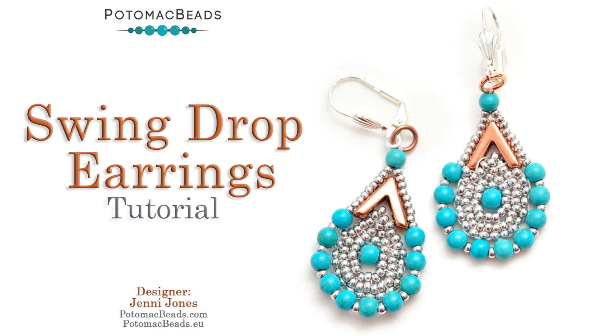 How to Bead / Free Video Tutorials / Earring Projects / Swing Drop Earrings Tutorial