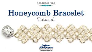 How to Bead Jewelry / Beading Tutorials & Jewel Making Videos / Bracelet Projects / Honeycomb Bracelet Tutorial