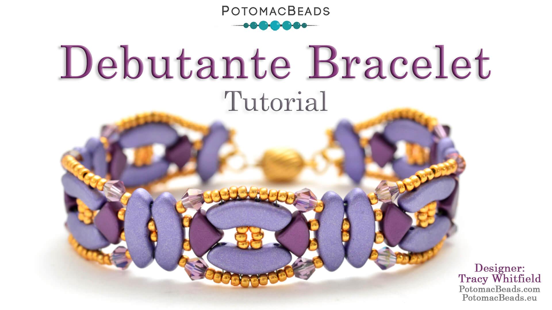How to Bead Jewelry / Videos Sorted by Beads / QuadBow & PieDuo Bead Videos / Debutante Bracelet Tutorial
