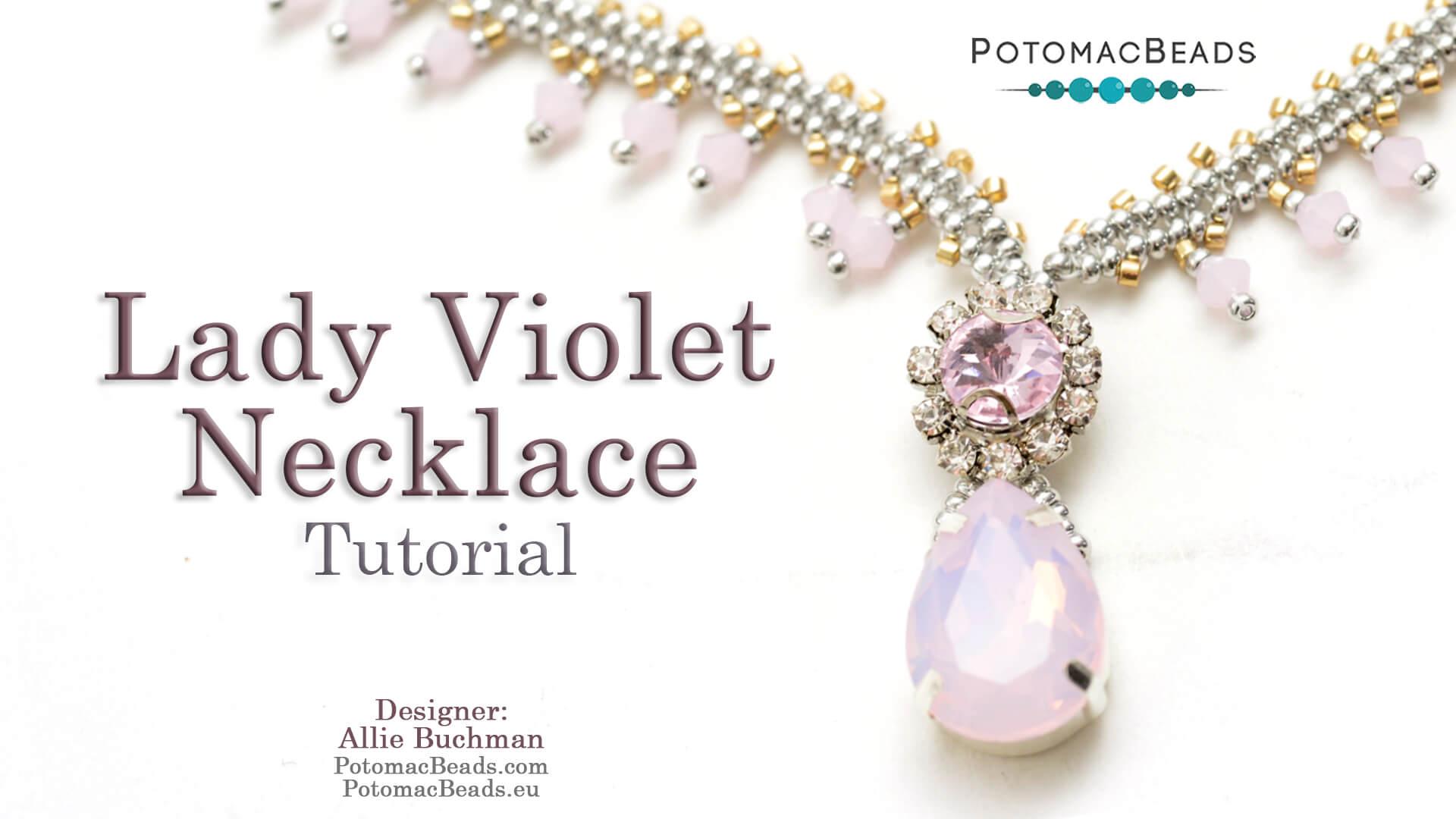 How to Bead Jewelry / Beading Tutorials & Jewel Making Videos / Bead Weaving Tutorials & Necklace Tutorial / Lady Violet Necklace Tutorial