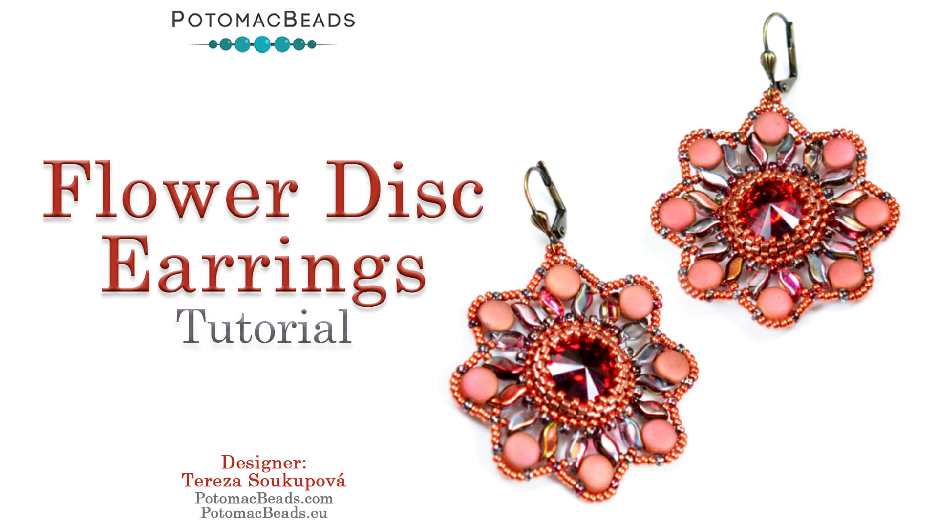 How to Bead / Free Video Tutorials / Earring Projects / Flower Disc Earrings Tutorial