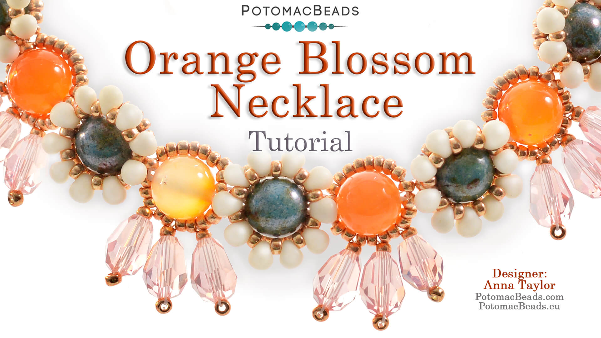 How to Bead Jewelry / Videos Sorted by Beads / Potomac Crystal Videos / Orange Blossom Necklace Tutorial