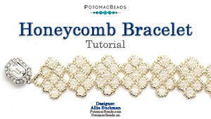 How to Bead Jewelry / Videos Sorted by Beads / Potomac Crystal Videos / Honeycomb Bracelet Tutorial