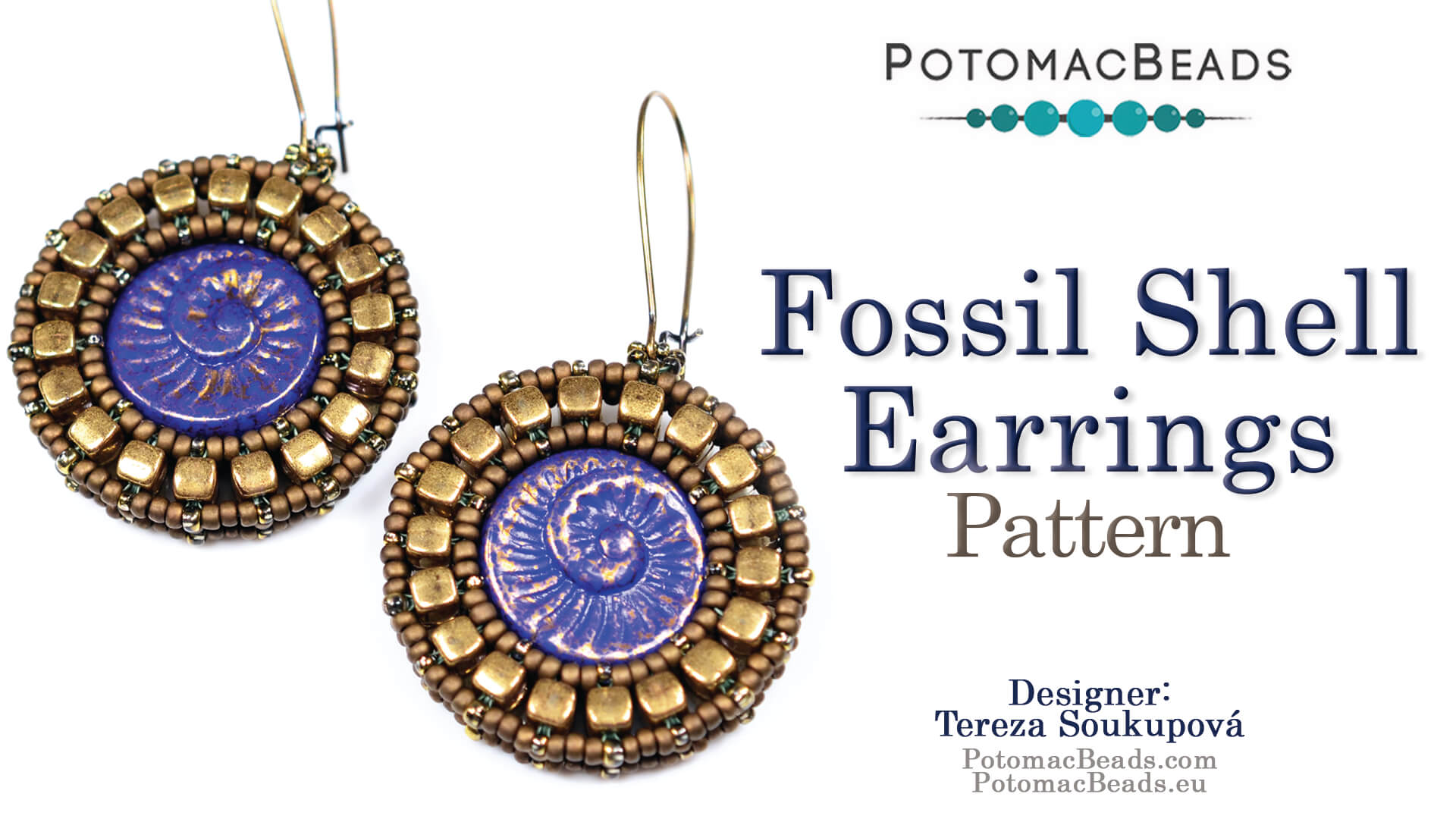How to Bead / Free Video Tutorials / Earring Projects / Fossil Shell Earrings Tutorial