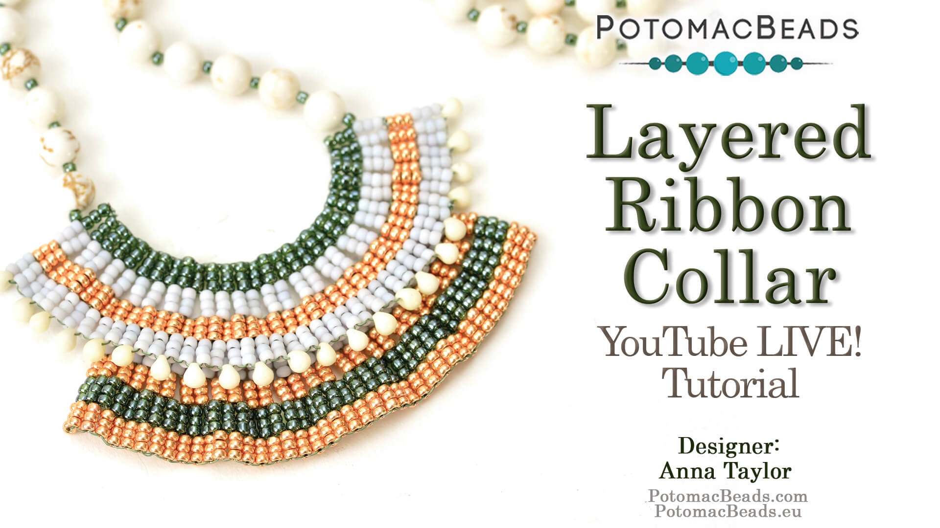 How to Bead Jewelry / Beading Tutorials & Jewel Making Videos / Bead Weaving Tutorials & Necklace Tutorial / Layered Ribbon Collar Tutorial