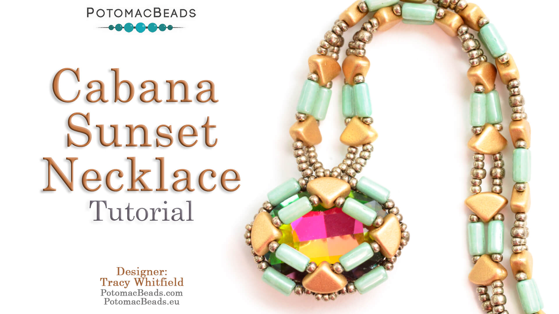 How to Bead Jewelry / Videos Sorted by Beads / QuadBow & PieDuo Bead Videos / Cabana Sunset Necklace Tutorial