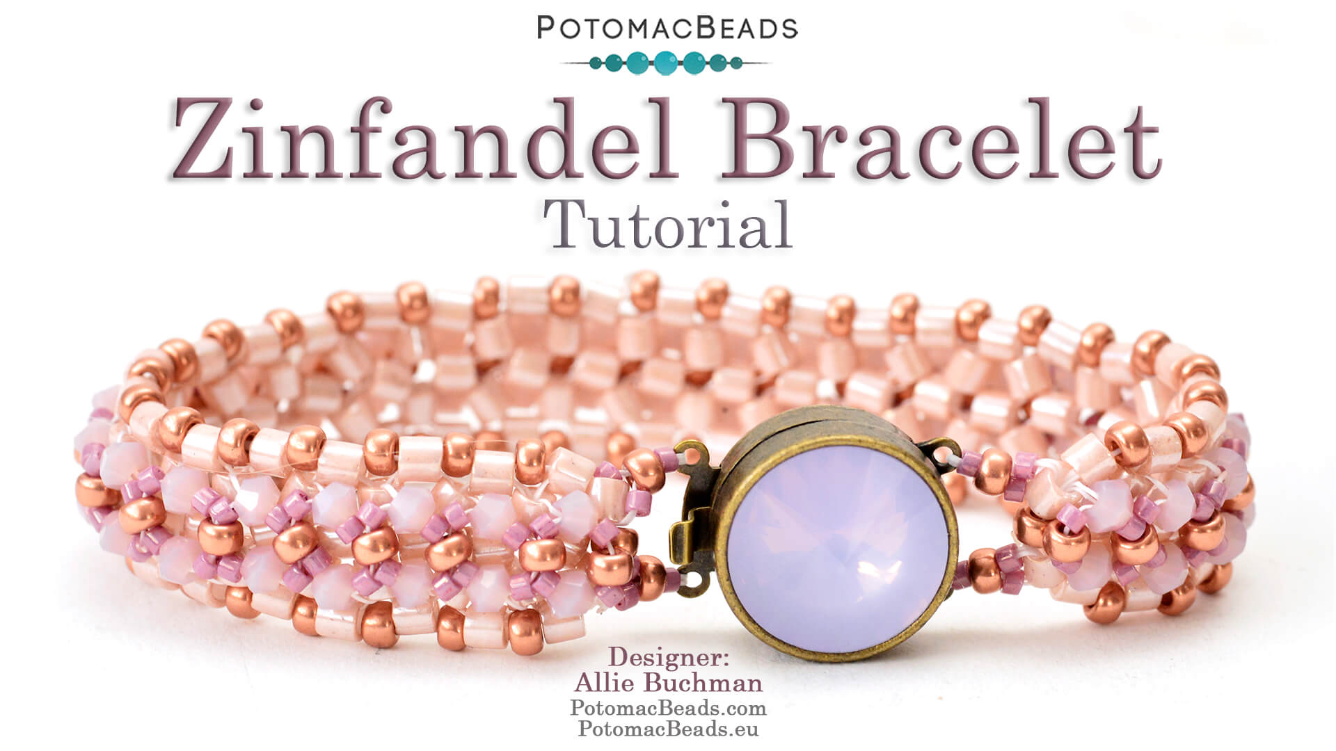 How to Bead / Videos Sorted by Beads / Potomac Crystal Videos / Zinfandel  Bracelet Tutorial