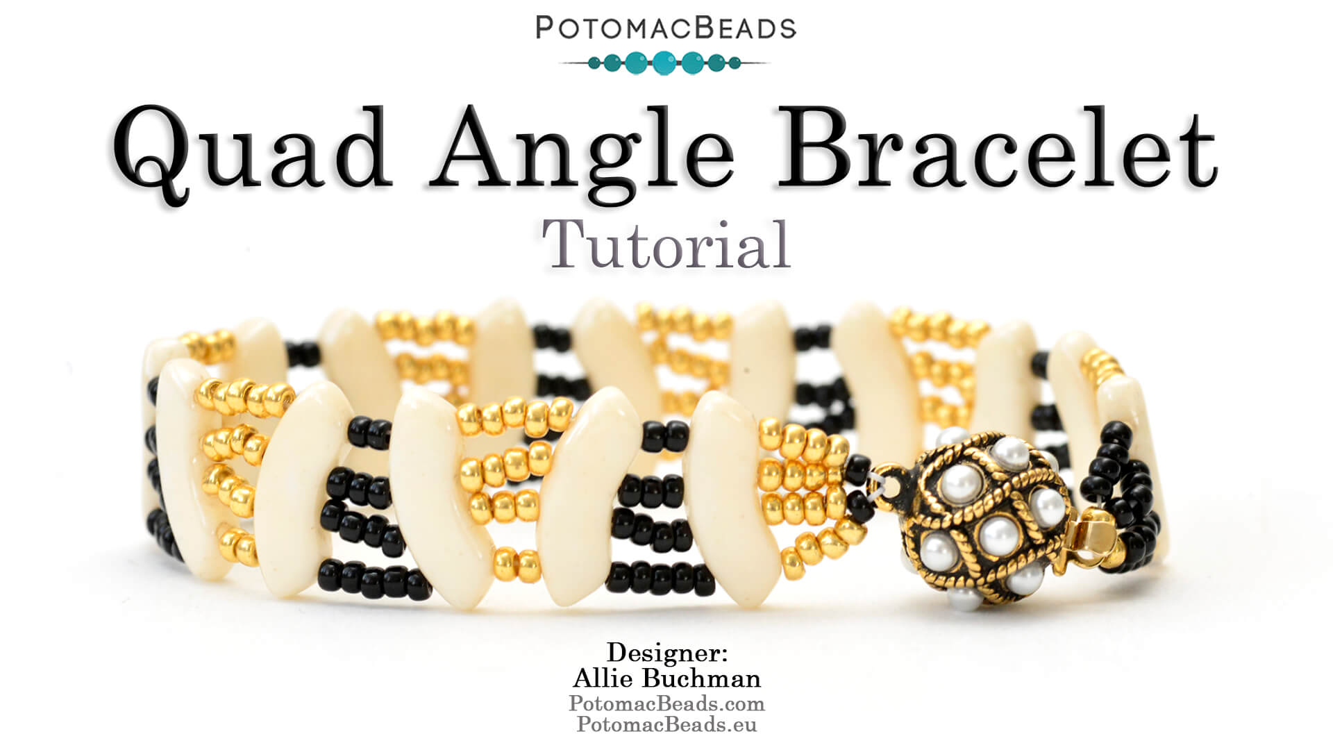 How to Bead Jewelry / Videos Sorted by Beads / QuadBow & PieDuo Bead Videos / Quad Angle Bracelet Tutorial