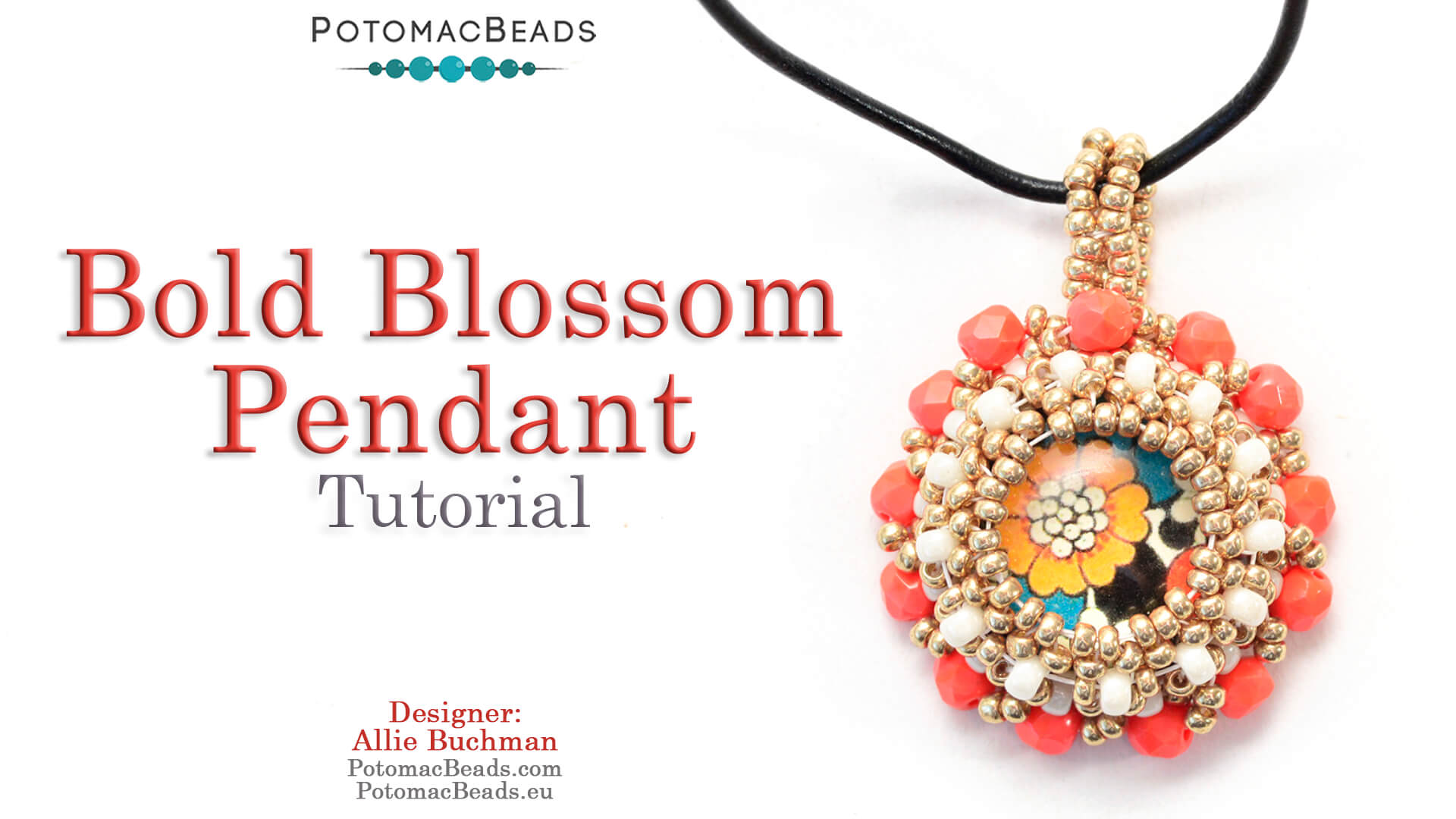 How to Bead / Videos Sorted by Beads / Cabochon Videos / Bold Blossom Pendant Tutorial