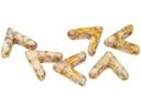 AVA Beads - White Lila Gold Luster