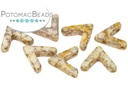 AVA Beads - White Lila Gold Luster (Factory Pack of 100)