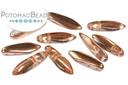 2-Hole Dagger Beads - Crystal Capri Gold 5x16mm