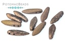 2-Hole Dagger Beads - Jet Etched Bronze 5x16mm