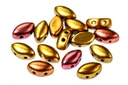 IrisDuo Beads - Ancient Gold (Factory Pack) 7x4mm