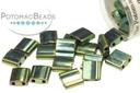 Miyuki Tila - Metallic Malachite Green Iris 5x5x1.9mm