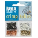 Assorted Plated Crimp Tubes 2mm - 4 Colors
