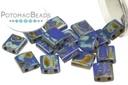 Miyuki Tila - Opaque Cobalt Picasso 5.5mm