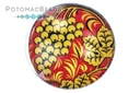 Glass Cabochon - Folk Art Golden Grapes