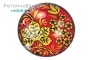 Glass Cabochon - Folk Art Grapeleaf