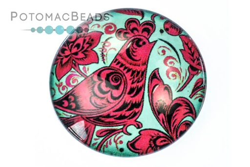 [13112] Glass Cab - Folk Art Red Rooster
