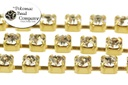 Cup Chain - Small Crystal Brass SS12 3mm (Per Foot)