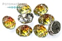 Baroque Oval Cabochon Beads - Backlit Tequila