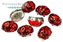 Baroque Oval Cabochon Beads - Backlit Rubysol