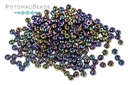 Czech Seed Beads - Jet AB 11/0 (Factory Pack)