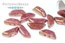 Tinos par Puca Beads - White Gold Luster