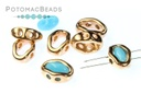 Halo Beads for SuperDuo - Rose Gold (50 Pack)