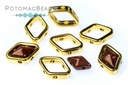 Halo Beads for Diamond Shapes - Gold (10 Pack)