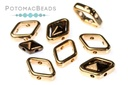 Halo Beads for Diamond Shapes - Rose Gold (10 Pack)