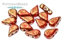 Amos Par Puca Beads - Opaque Coral Red Bronze