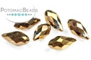 Potomac Crystal Briolettes - Metallic Bronze Iris 6x12mm