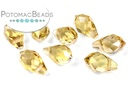 Potomac Crystal Briolettes - Gold Champagne AB 5x8mm