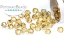 Potomac Crystal Round Beads - Gold Champagne 3mm
