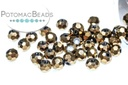 Potomac Crystal Round Beads - Metallic Bronze Iris 3mm