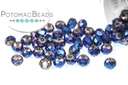 Potomac Crystal Rondelle Beads - Metallic Blue Iris 1.5x2mm