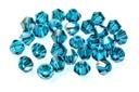 Potomac Crystal Bicones - Blue Zircon 4mm