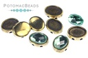 OvalDuo Antique Brass 10 pack for Oval Flatbacks 6x8mm